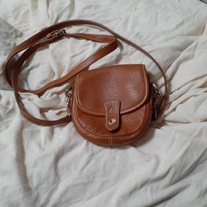 Dooney & Bourke Brown Leather Mini Flap Crossbody
